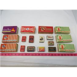 LOT OF 17 MATCH BOXES (EDDY MATCHES) * SOME CONTAIN MATCHES*