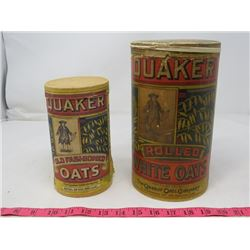 LOT OF 2 QUAKER OAT CONTAINERS (CARDBOARD)