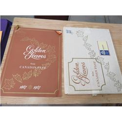 GOLDEN LEAVES BY CANADA POST (1867-1967, ORIGINAL BOX) * NEWSPAPER STORIES OF CANADA'S HISTORY* (23""