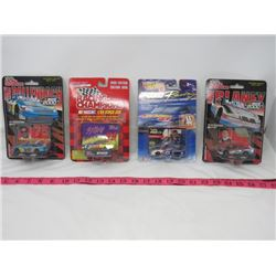 LOT OF 4 COLLECTOR CARS ( HOTWHEELS, RACING CHAMPIONS) *164* (1990'S)
