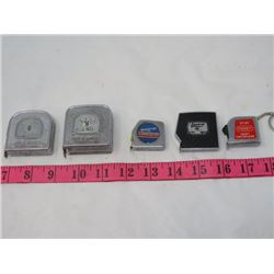 LOT OF 5 MEASURING TAPES (1980'S)
