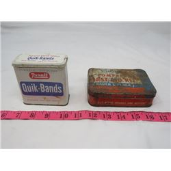 LOT OF 2 BANDAGE TINS ( REXALL, CURITY) *VINTAGE*