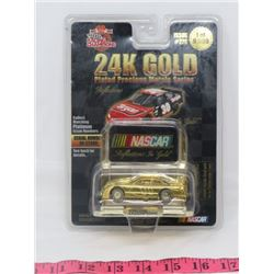NASCAR COLLECTABLE TOY CAR ( 24 KARAT GOLD PLATED) *RACING CHAMPIONS* (1/64 SCALE) *NUMBERED*