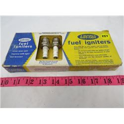 FUEL IGNITER SPARK PLUGS ( LECTRA BRAND, SET OF 8)