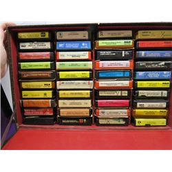 LOT OF 8 TRACK TAPES (WITH CASE)