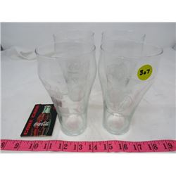 LOT OF COCA-COLA ITEMS (4 COKE GLASSES, 1999 COKE CARD)