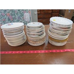 LOT OF ASSORTED SAUCERS (68 IN TOTAL)