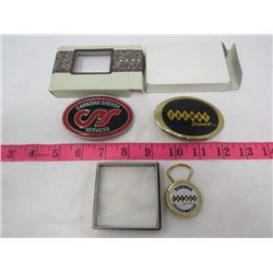 LOT OF BELT BUCKLES (WITH KEY CLASP) *CANADIAN ENGERY SERVICES, PREMAY EQUIPMENT, PREMAY EDMONTON, E