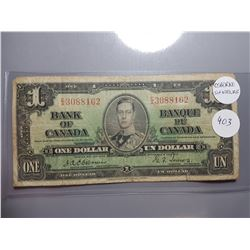 ONE DOLLAR BILL (OSBORNE SIGNATURE) *1937* (CANADA)