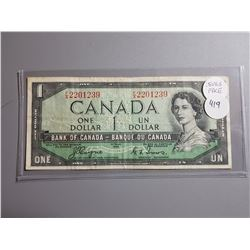 ONE DOLLAR BILL (COYNE TOWERS) *1954* (DEVILS FACE)  *CANADA*