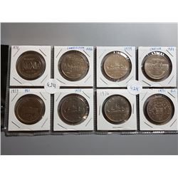 LOT OF 8-ONE DOLLAR COINS (ASSORTED DATES) *CANADA*