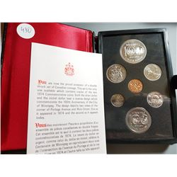 PROOF SET WITH SILVER DOLLAR (1974) *CANADA*