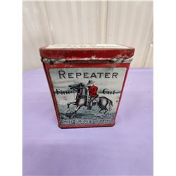 REPEATER TOBACCO TIN WITH MOUNTIE