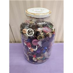 LARGE JAR OF ASSORTED BUTTONS
