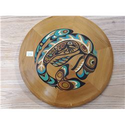 HAIDA - NORTHWEST COAST PAINTED CEDAR PLATE