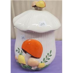1960'S CERAMIC MUSHROOM COOKIE JAR- RETRO