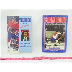 LOT OF 2 HOCKEY RELATED BOOKS (THUNDER AND LIGHTENING AND BOOM BOOM: THE LIFE AND TIMES OF BERNARD G
