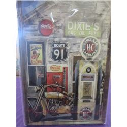 "COCA-COLA METAL SIGN *NEW IN PACKAGING* (23.5"" T X 16"" L)"