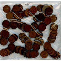 LOT OF 88 CANADIAN PENNIES (ASSORTED DATES) *1910-1970-SOME YEARS MAY NOT BE INCLUDED*