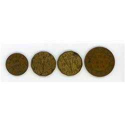 LOT OF 4 SPECIAL CANADIAN PENNIES (LARGE 1910, 1936, 2 X 1943 VICTORY)
