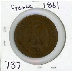 1861 FRENCH COIN