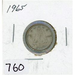 TEN CENT COIN (CANADA) *1965* (SILVER)