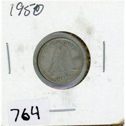 TEN CENT COIN (CANADA) *1950* (SILVER)