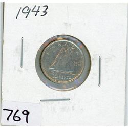 TEN CENT COIN (CANADA) *1943* (SILVER)