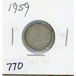 TEN CENT COIN (CANADA) *1959* (SILVER)