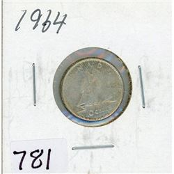 TEN CENT COIN (CANADA) *1964* (SILVER)