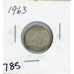 TEN CENT COIN (CANADA) *1963* (SILVER)