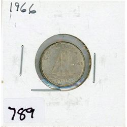 TEN CENT COIN (CANADA) *1966* (SILVER)