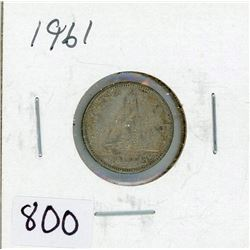 TEN CENT COIN (CANADA) *1961* (SILVER)