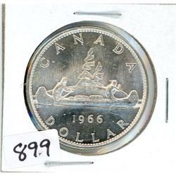 ONE DOLLAR COIN (CANADA) *1966* (SILVER)