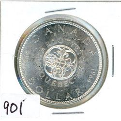 ONE DOLLAR COIN (CANADA) *1964* (SILVER)