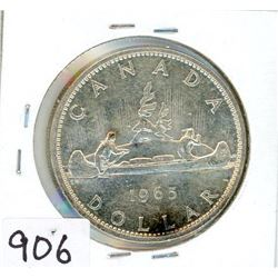 ONE DOLLAR COIN (CANADA) *1965* (SILVER)