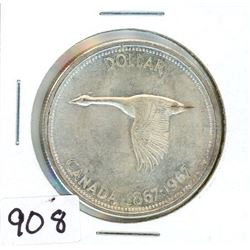 ONE DOLLAR COIN (CANADA) *1967* (SILVER)