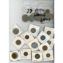 LOT OF 36 ASSORTED WORLD COINS (VARIOUS YEARS, COUNTRIES AND DATES)