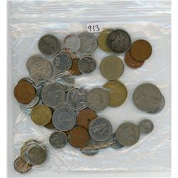 LOT OF 46 ASSORTED WORLD COINS (VARIOUS YEARS, COUNTRIES AND DATES)