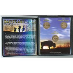 NATIVE AMERICAN COIN SET IN BOOKLET ( 2000, 2009, 2010)