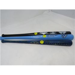 LOT OF THREE MINI BASEBALL BATS - ONE BLACK DIAMONDS, ONE TORONTO BLUE JAYS, ONE LOUISVILLE SLUGGER