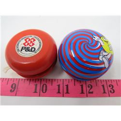 LOT OF 2 YO-YOS