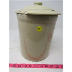 1 GALLON CROCK W/ LID *CHIPS AND IMPERFECTIONS*