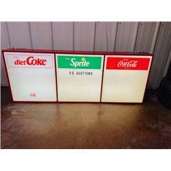 VINTAGE COCA COLA SIGN WITH LETTERS AND LIGHT