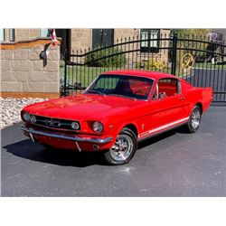 1965 FORD MUSTANG FASTBACK 4 SPEED FACTORY RED ON RED COMPREHENSIVE RESTORATION