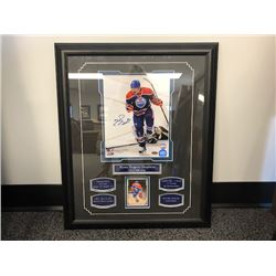 FRIDAY NIGHT NO RESERVE FRAMED AND AUTOGRAPHED PICTURE OF RYAN NUGENT HOPKINS FIRST NHL GOAL COA INC