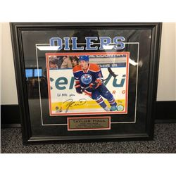 FRIDAY NIGHT NO RESERVE FRAMED AND AUTOGRAPHED PICTURE OF TAYLOR HALL FIRST NHL GAME  COA INCLUDED