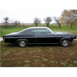1966 CHEVROLET 2DR HT, AL ORGINAL CAR, BLACK WITH BLACK