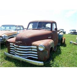 1950'S CHEVROLET 3600 PICKUP, 5 WINDOW, LONG BOX,