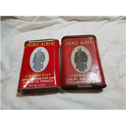 LOT OF 2 DIFFERENT PRINCE ALBERT TOBACCO TINS